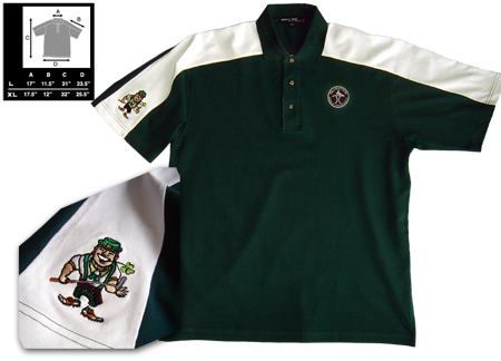 Green White Polo