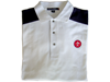 White Navy Polo